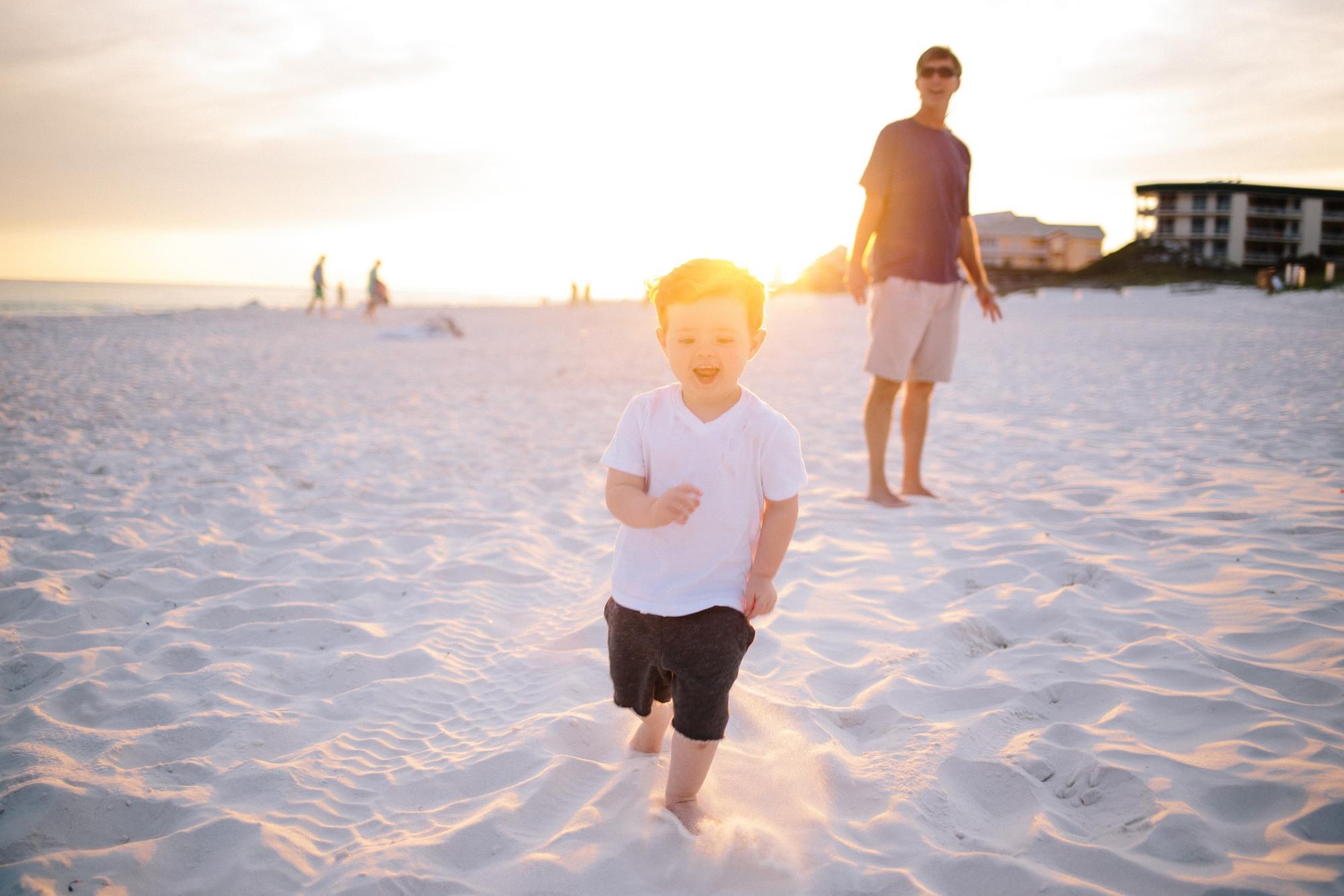 toddler running from parent body language