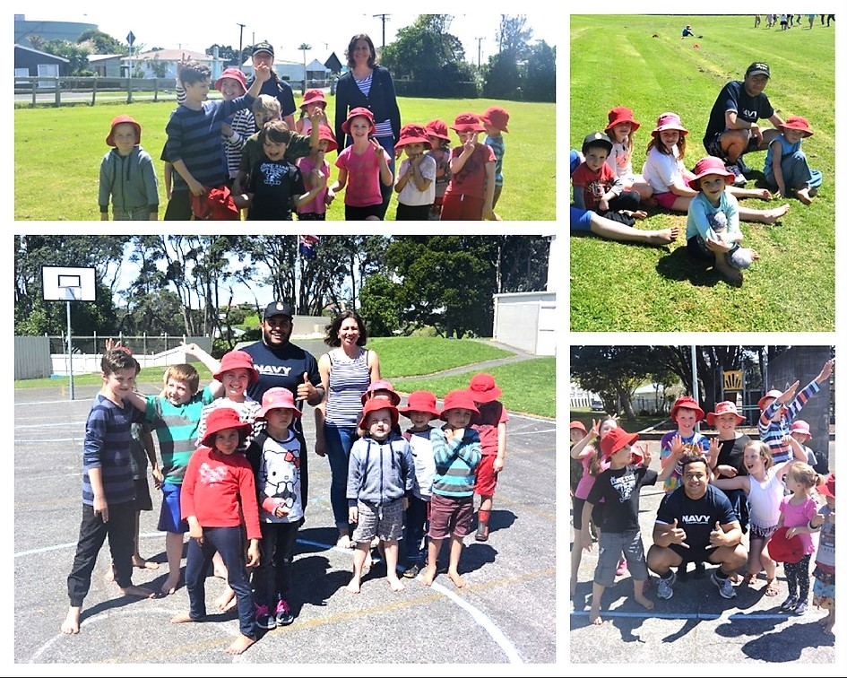 Children were thrilled by a visit from the Navy (HMNZ Endeavour). They got to read, play sport and and talk with them.