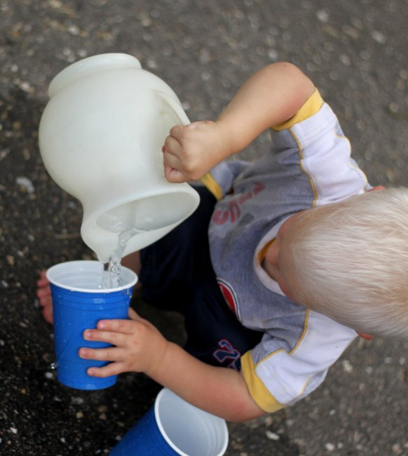 Image: Hands on as we grow- Pouring Water for Toddlers [Life Skill to Learn]