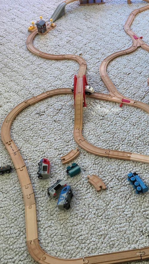 toy train with loose parts
