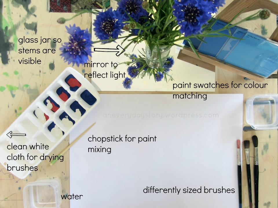 See the setup for this flower provocation and more at An Everyday Story